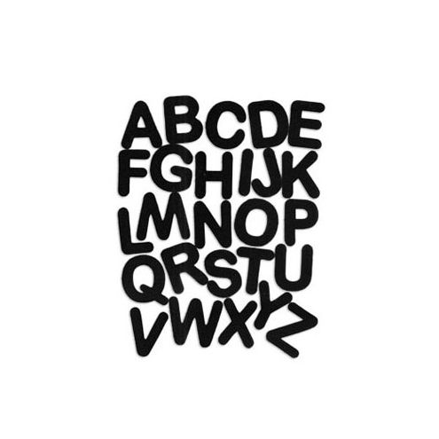 Letters black sesame - sq