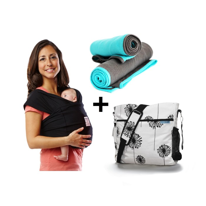 Baby K'tan Bundle 1 baby carrier swaddle diaper bag