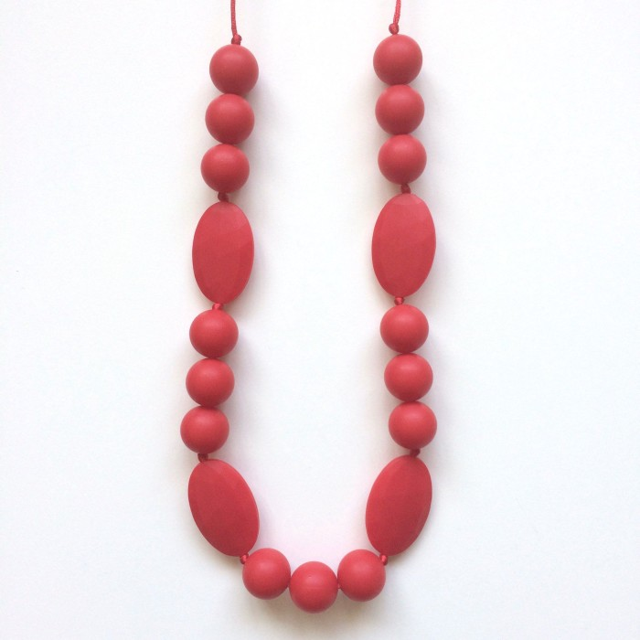 Jambu Beads Chelsea Necklace Red 2